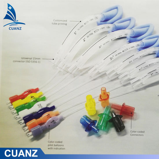 Endotracheal Tube Connector Laryngeal Mask Airway Connector Color Coded Connector
